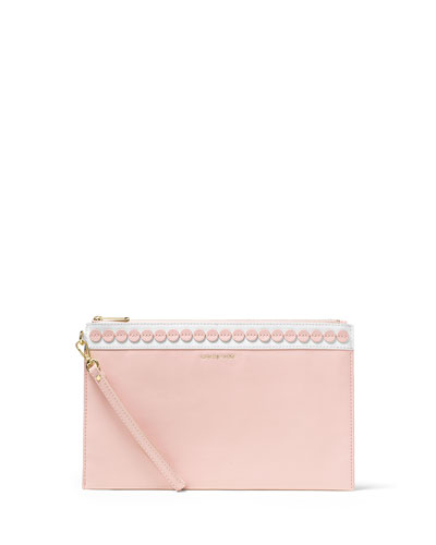 Analise XL Zip Clutch Bag, Blossom/White