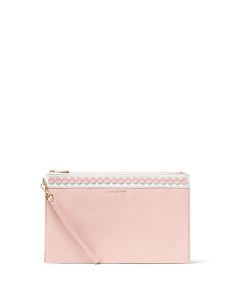 MICHAEL Michael KorsAnalise XL Zip Clutch Bag, Blossom/White
