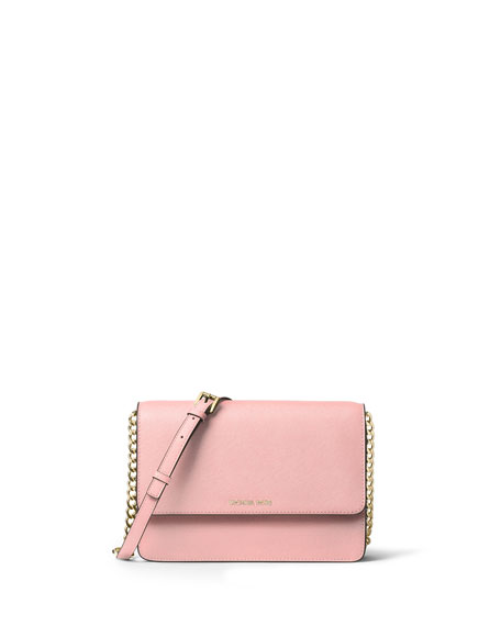 Daniella Large Saffiano Crossbody Bag, Blossom
