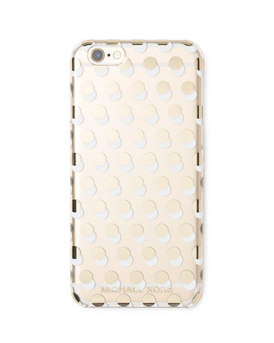 Alston Dot-Print iPhone 6 Case, Clear/Gold