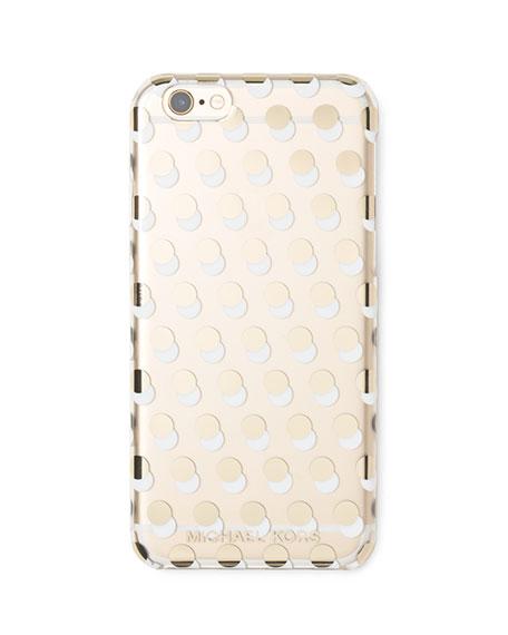 MICHAEL Michael KorsAlston Dot-Print iPhone 6 Case, Clear/Gold