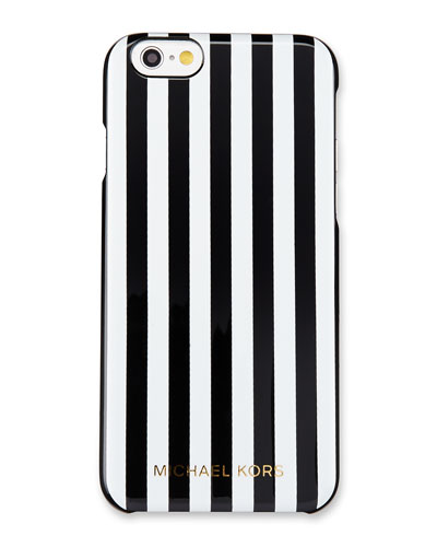 Preppy Stripe iPhone 6/6s Case, Black/White