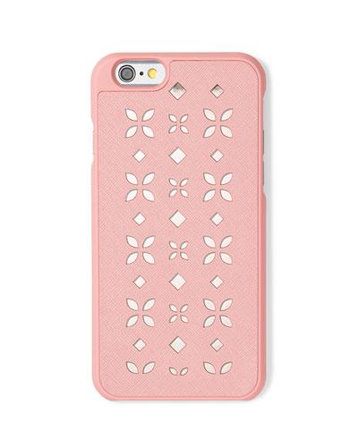 Floral Laser-Cut Saffiano iPhone 6 Case, Blossom/Ballet