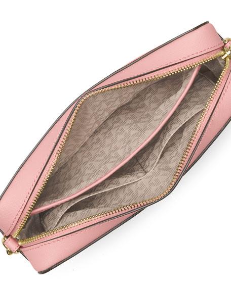 Jet Set Laser-Cut Large Crossbody Bag, Blossom/Ballet