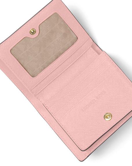 1df3b0bfbefe MICHAEL Michael Kors Jet Set Travel Saffiano Carryall Card Case, Blossom