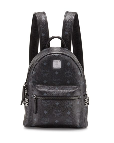 MCM Stark Side-Stud Mini Backpack, Black