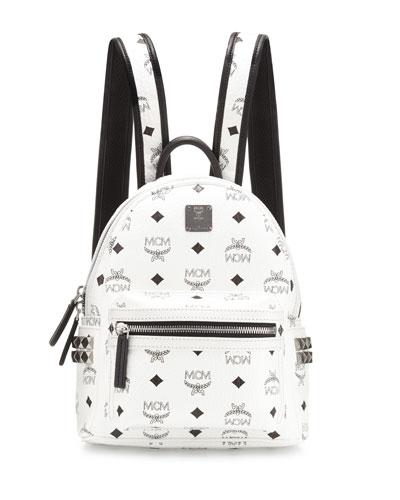 Stark Side-Stud Mini Backpack, White