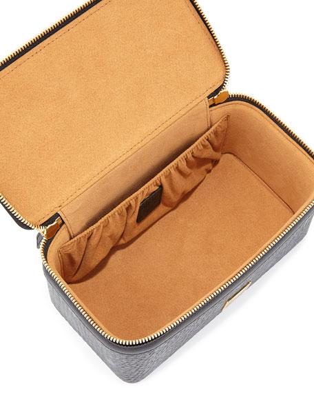 Color Visetos Cosmetics Bag w/ Strap, Black