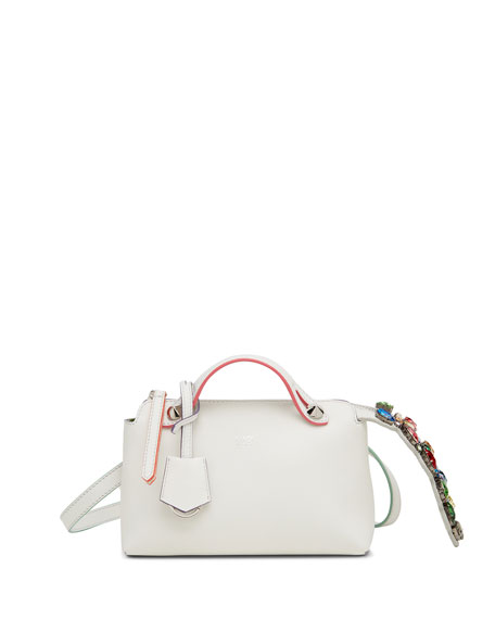 By The Way Mini Crystal-Tail Satchel Bag, White/Multi