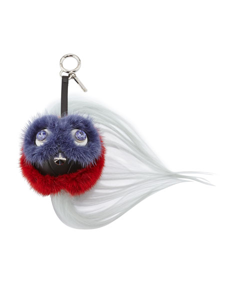 Fendi QuTweet Ball Monster Beak Fur Charm for