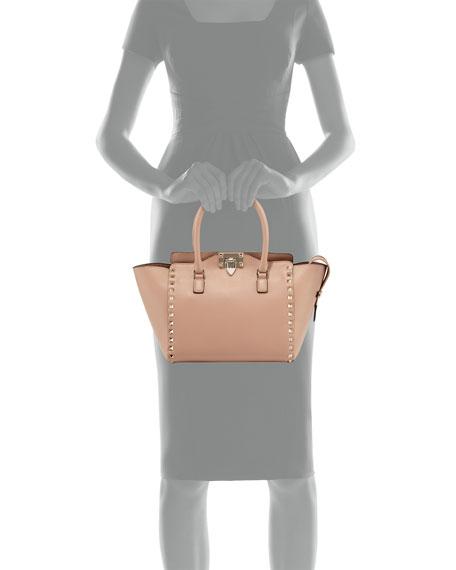 b3435822e3b Valentino Garavani Small Shopper Double-Handle Rockstud Tote Bag, Taupe |  Neiman Marcus