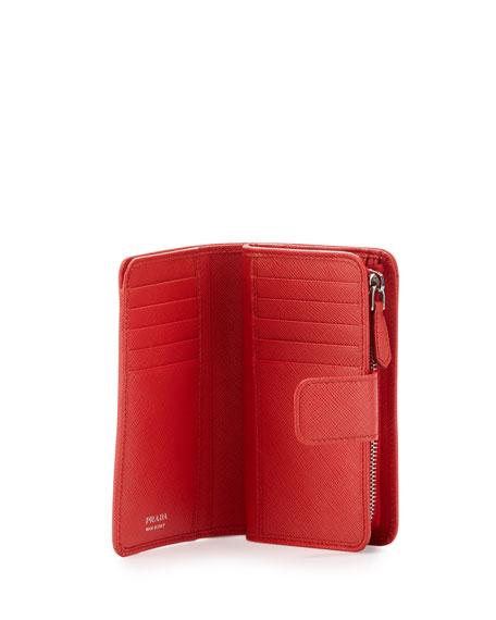72e2cd50 Saffiano Metal Oro Bi-Fold Wallet Red (Lacca)