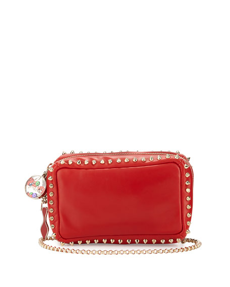 Christian Louboutin Piloutin Studded Wristlet Clutch Bag, Red