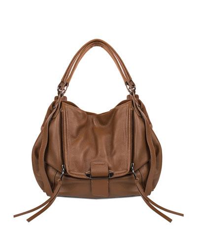 Jonnie Leather Shopper Bag, Caramel