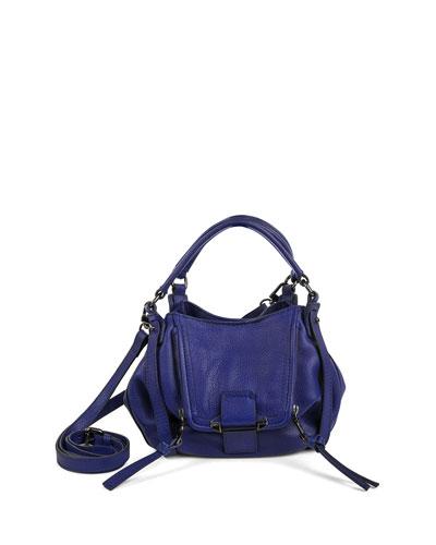 Jonnie Mini Leather Crossbody Bag, Cobalt