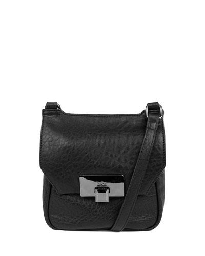 Gable Mini Leather Satchel Bag, Black