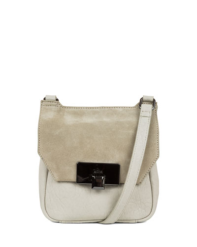 Gable Mini Leather Satchel Bag, Stone