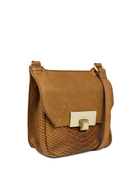 Gable Mini Leather Satchel Bag, Caramel