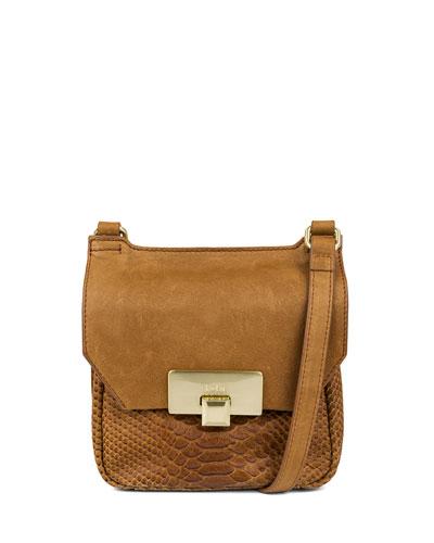 Gable Mini Leather Satchel Bag, Caramel
