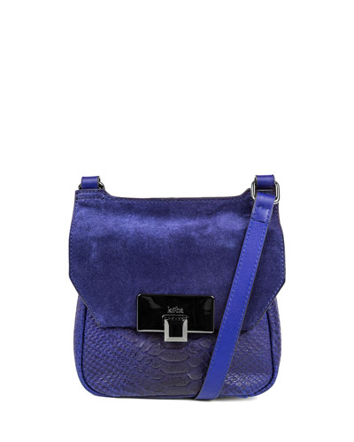 Gable Mini Leather Satchel Bag, Cobalt