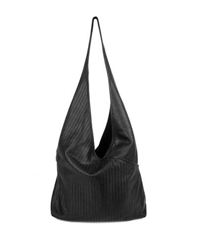 Cecilia Leather Sling Bag, Black