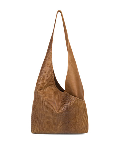 Cecilia Leather Sling Bag, Caramel