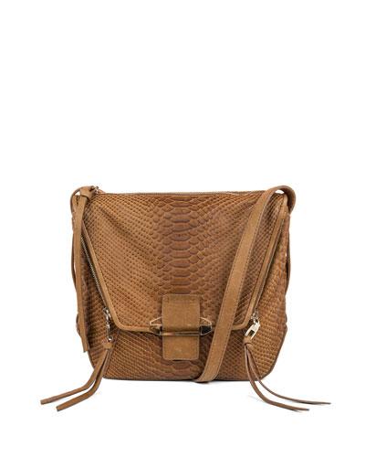 Gwenyth Leather Shoulder Bag, Caramel