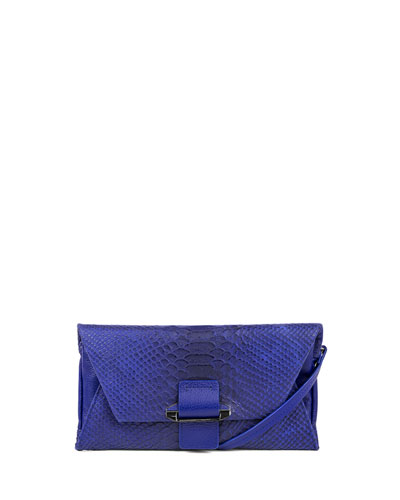 Ruby Convertible Leather Wallet, Cobalt