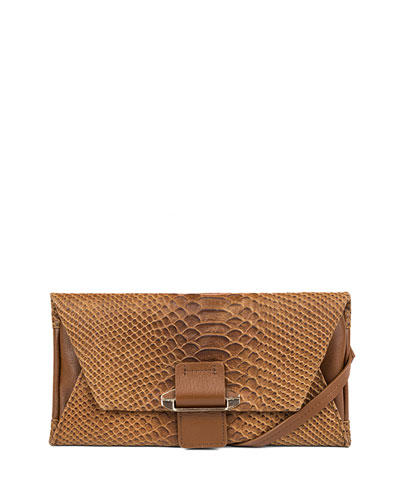 Ruby Convertible Leather Wallet, Caramel