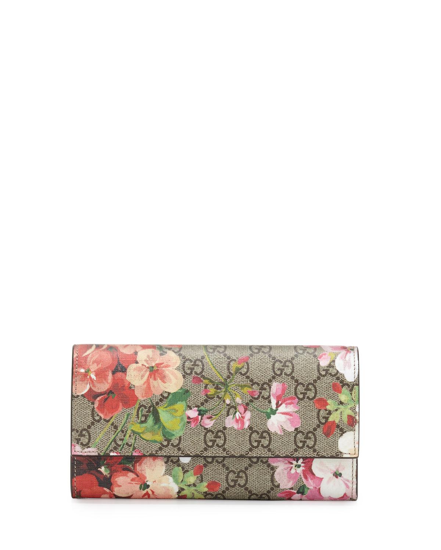6e950eae51e Gucci GG Blooms Supreme Leather Wallet