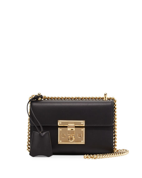 Gucci Padlock Leather Small Shoulder Bag, Black