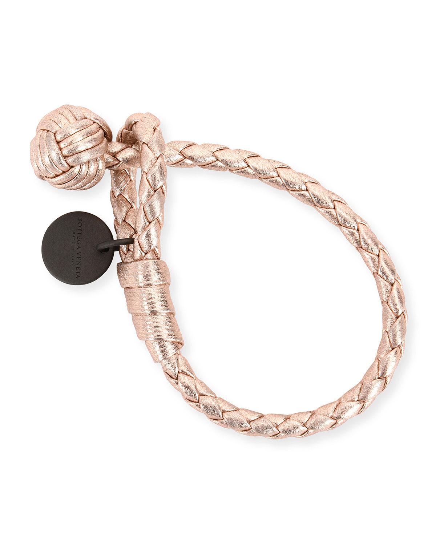 Bottega Veneta Intrecciato Single-Knot Grosgrain Bracelet c2402c085f6a6
