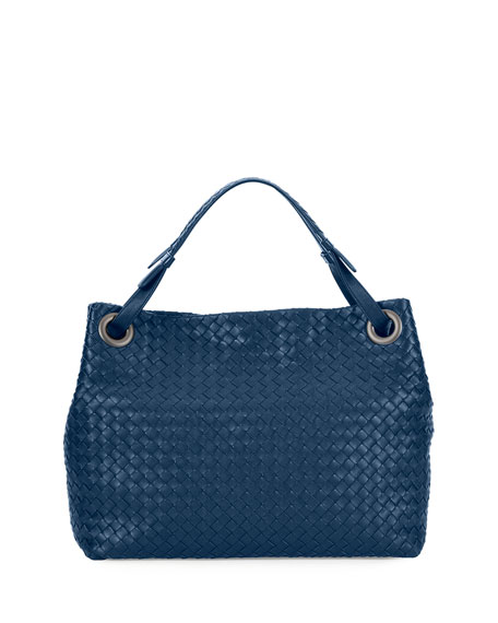 Bottega Veneta Medium Intrecciato Shoulder Bag, Cobalt Blue