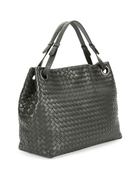 Medium Intrecciato Garda Shoulder Bag