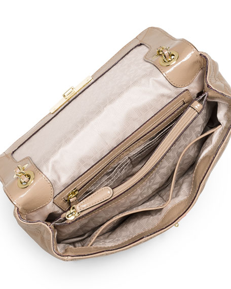 Sloan Large Chain Shoulder Bag, Bisque