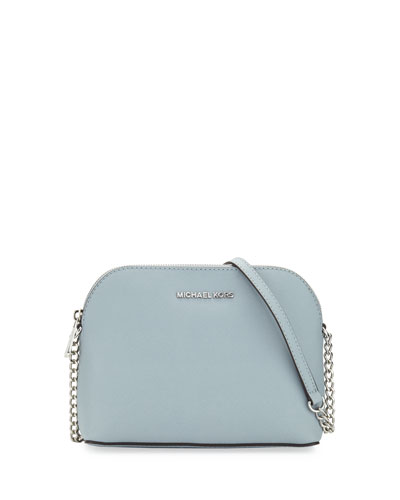Cindy Large Dome Crossbody Bag, Dusty Blue