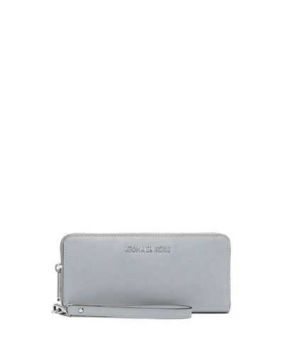 Jet Set Travel Continental Wristlet Wallet, Dusty Blue