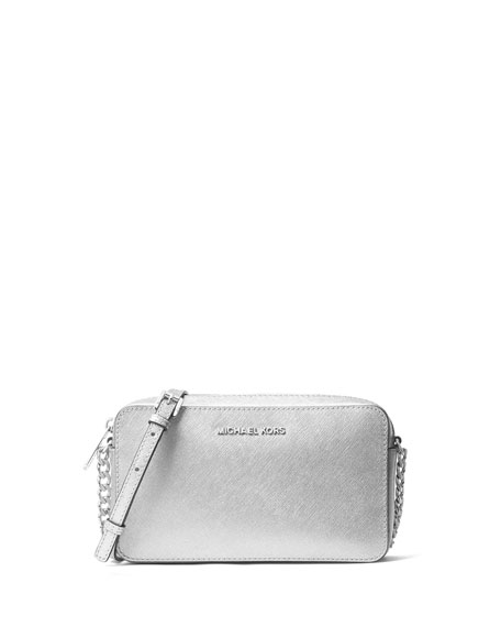 Jet Set Travel Medium Crossbody Bag, Silver