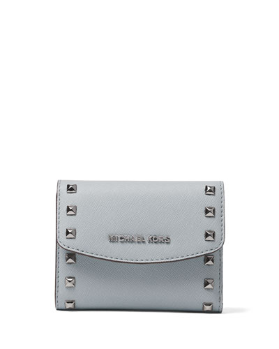 Ava Stud Carryall Card Case, Dusty Blue