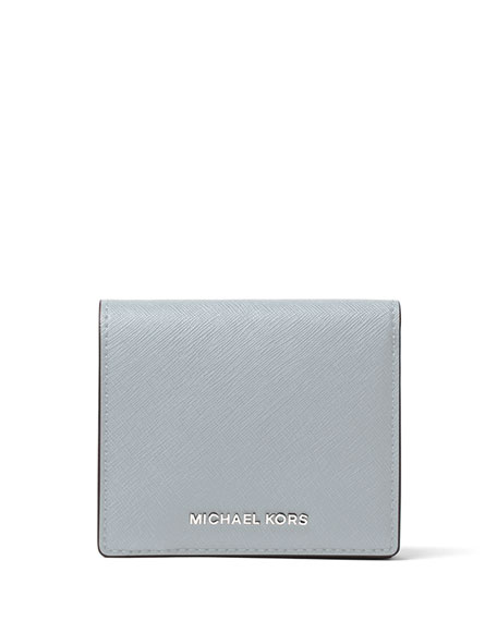 599a96a2035e MICHAEL Michael Kors Jet Set Travel Carryall Card Case, Dusty Blue | Neiman  Marcus