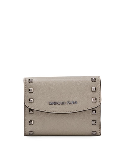 Ava Stud Carryall Card Case, Cement