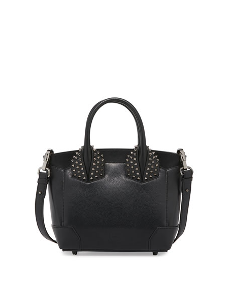 Christian LouboutinEloise Small Leather Spike Tote Bag, Black