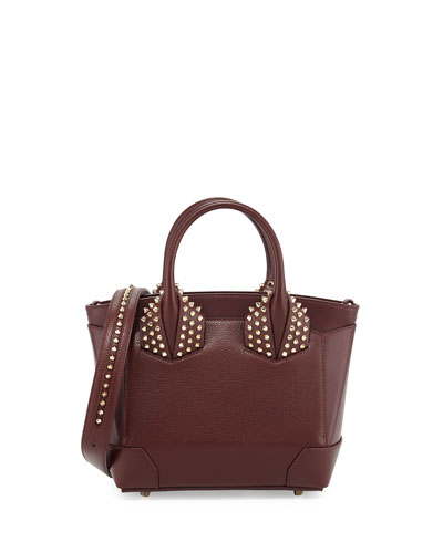 Eloise Small Leather Spike Tote Bag, Bordeaux