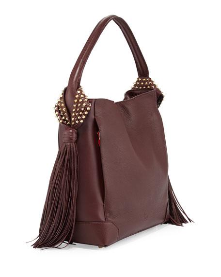 c6a30517894 Eloise Fringe Leather Hobo Bag Bordeaux