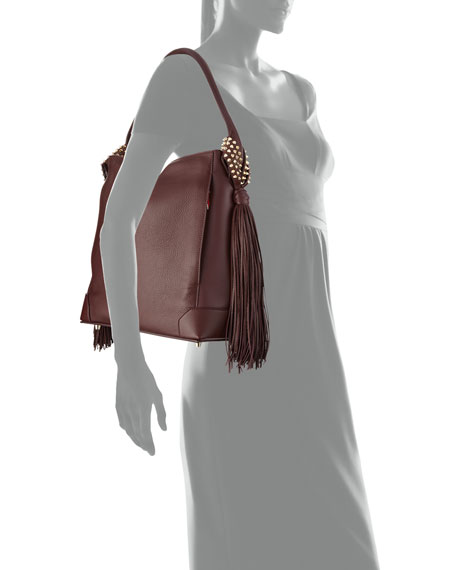 7673c0b051 Christian Louboutin Eloise Fringe Leather Hobo Bag, Bordeaux
