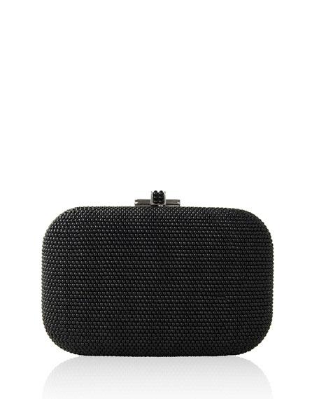 Slide-Lock Pearl Crystal Clutch Bag