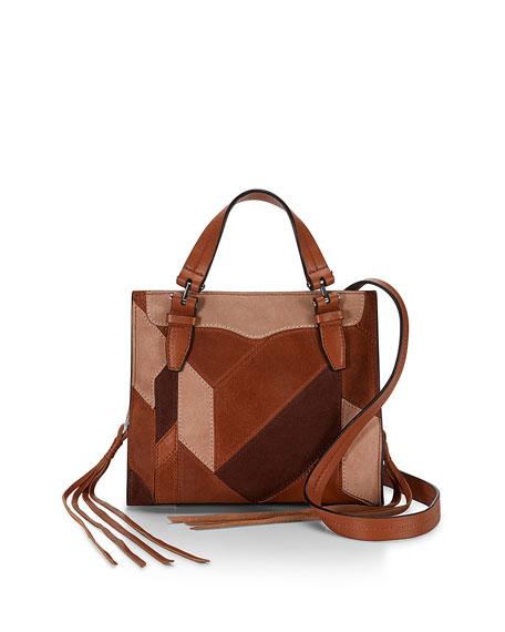 Rebecca Minkoff Blair Mini Leather Patchwork Tote Bag Almond Neiman Marcus