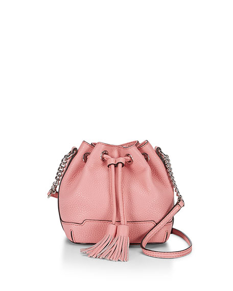 Micro Lexi Bucket Bag, Guava