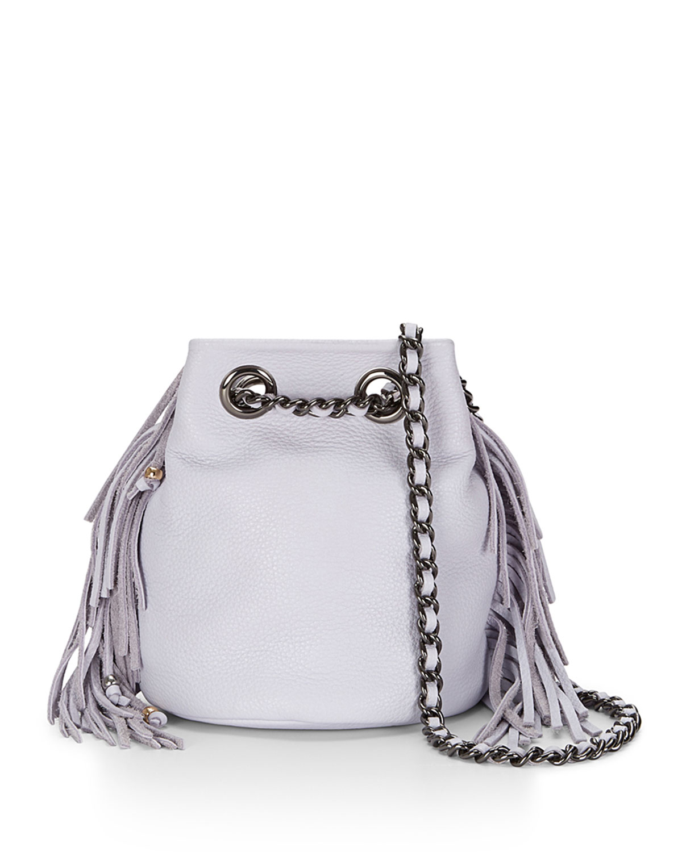 Bruni Fringe Bucket Bag Pale Lilac