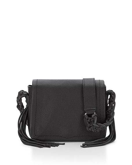 Wendy Small Leather Crossbody Bag, Black